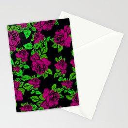 ROSES ROSES PINK AND GREEN Stationery Cards