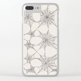 Spiderweb Pattern Clear iPhone Case