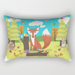 Forest Friends Fall Frolic Rectangular Pillow