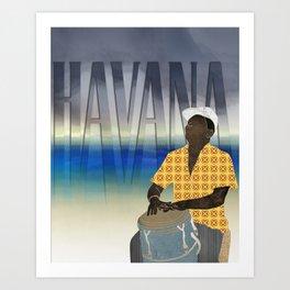 Havana Conguero Art Print