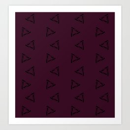 Impossible Triangles - Plumb Art Print