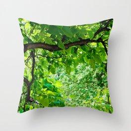 Peek into the Summer Trees Throw Pillow
