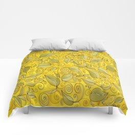 YELLOW LEAF Comforters