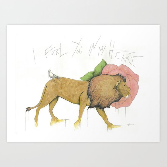 I Feel You In My Heart Art Print