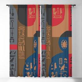 Egyptian Symbols Art Deco Composition #1 Blackout Curtain