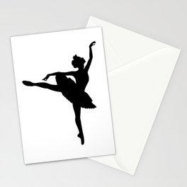Ballerina silhouette (black) Stationery Cards