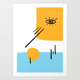 Eye of the sun Art Print