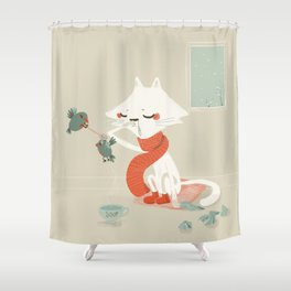 Running nose Shower Curtain