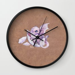 Little dragon hatchling Wall Clock