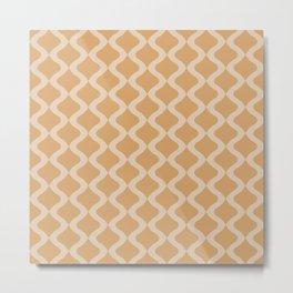 Alva Pattern - Honey Metal Print