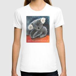 SAVE THE AUSTRALIAN KOALAS, proceeds will be donated. T-shirt