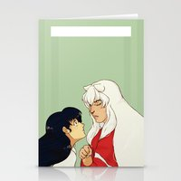 inuyasha Stationery Cards featuring Together by nico_lle