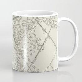 Vintage Map of Dallas Texas (1901) Coffee Mug