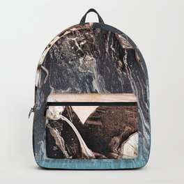 Blue Glow // abstract texture painting modern Backpack