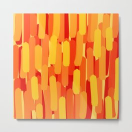 Sunset Flame Brush Strokes Metal Print