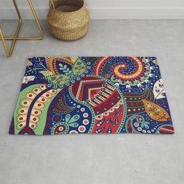Colorful khohloma pattern Rug