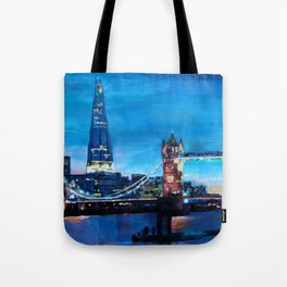 London Tower Bridge and The Shard at Dusk Tote Bag