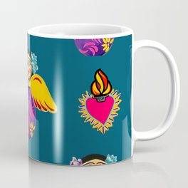 Angels and Corazones (flaming hearts) Coffee Mug