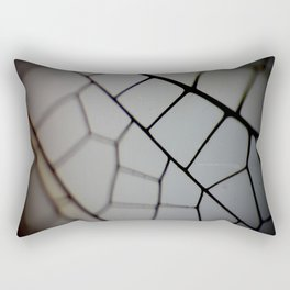 Close up of a Dragon Fly Wing Rectangular Pillow