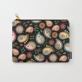 Hedgehog Paisley_Party Colors Carry-All Pouch