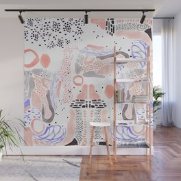 Brushstroke Collage Wall Mural