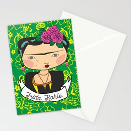 frida kahlo by iso Stationery Cards