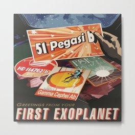 Space Passport Metal Print