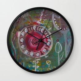 Frühling im Herzen Wall Clock