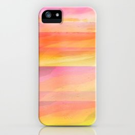 Seascape in Shades of Yellow and Peach iPhone Case