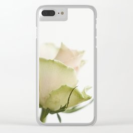 Pale pink rose Clear iPhone Case