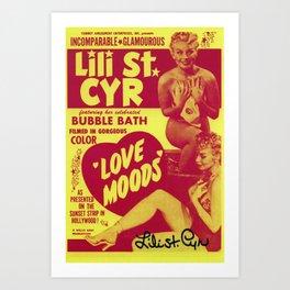 "Lili St. Cyr ""Love Moods"" (Color) Art Print"