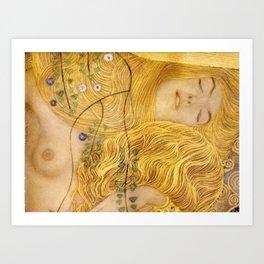 Gustav Klimt - Water Serpents, 1 (detail) Art Print