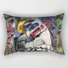 Totem Poles in the Pacific Northwest Rectangular Pillow