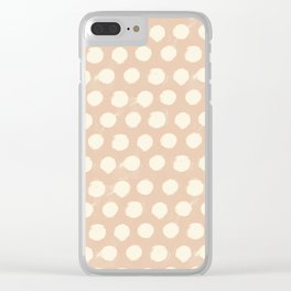 Spotsy-Peach Clear iPhone Case