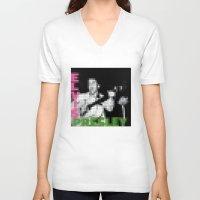 elvis presley V-neck T-shirts featuring Elvis Presley - Elvis Presley - Pixel Cover by Stuff.