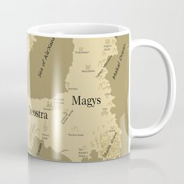 Warriors of the Crystal World Map Coffee Mug