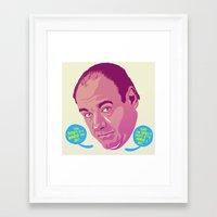 sopranos Framed Art Prints featuring Tony Soprano by Mike Wrobel