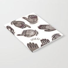 hand gestures and white henna tattoo Notebook