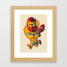 Rugby Bomb Framed Art Print