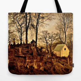 Old Cemetery at Night Tote Bag