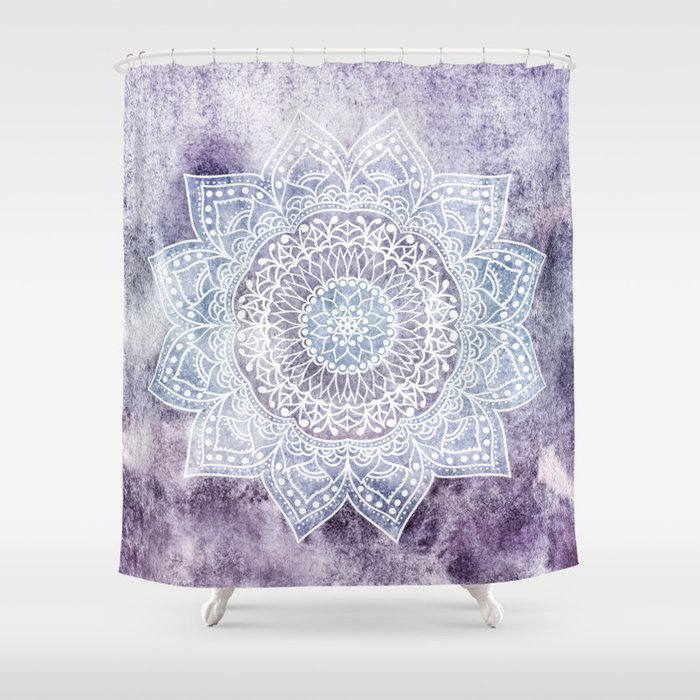DEEP PURPLE MANDALA Shower Curtain