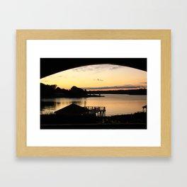 Under the awning Framed Art Print