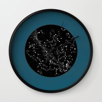 constellations Wall Clocks featuring Constellations  by Terry Fan
