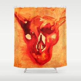 Bloody goat skull Shower Curtain