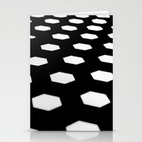 hexagon Stationery Cards featuring hexagon. by JulleK