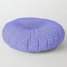 Blue Gingham Floor Pillow