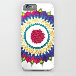 Rose Mandala iPhone Case