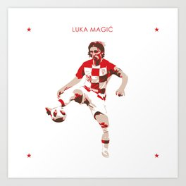 Luka Modric - Ballon d'Or Art Print