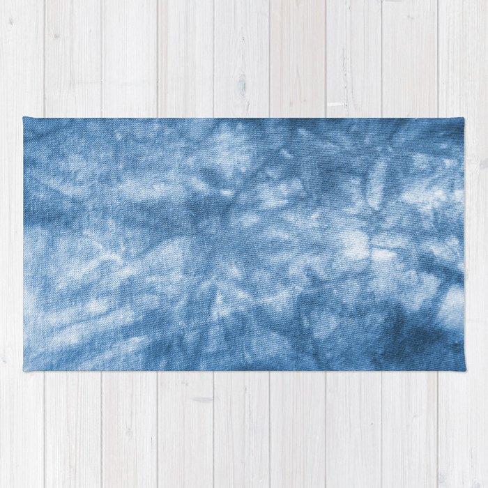 Blue Tie Dye Rug