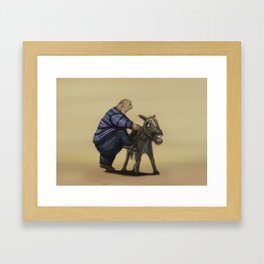 A means of transportation. Framed Art Print